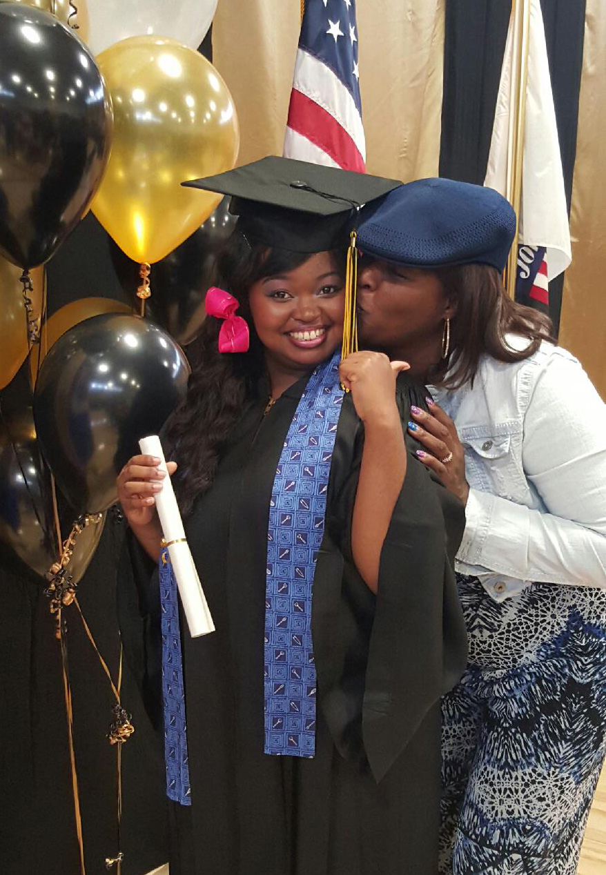 Gwendolene & Tequila at Tequila's graduation